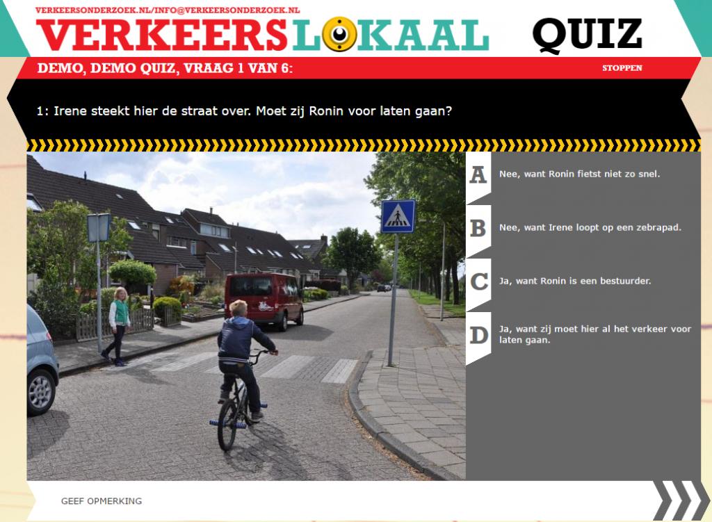 Verkeerslokaal.nl Demo Quiz